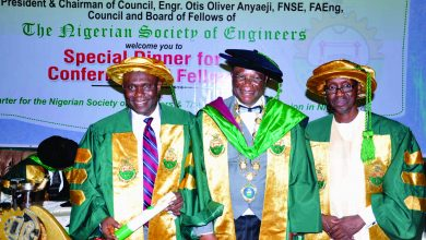Photo of NSE CONFERS FELLOWSHIP ON IBOM POWER MD